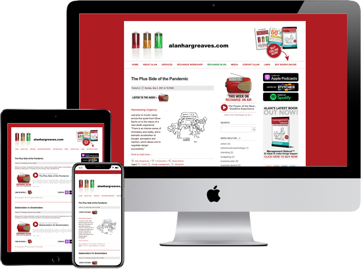 Alan Hargreaves: website upgrade designed by accurate expressions
