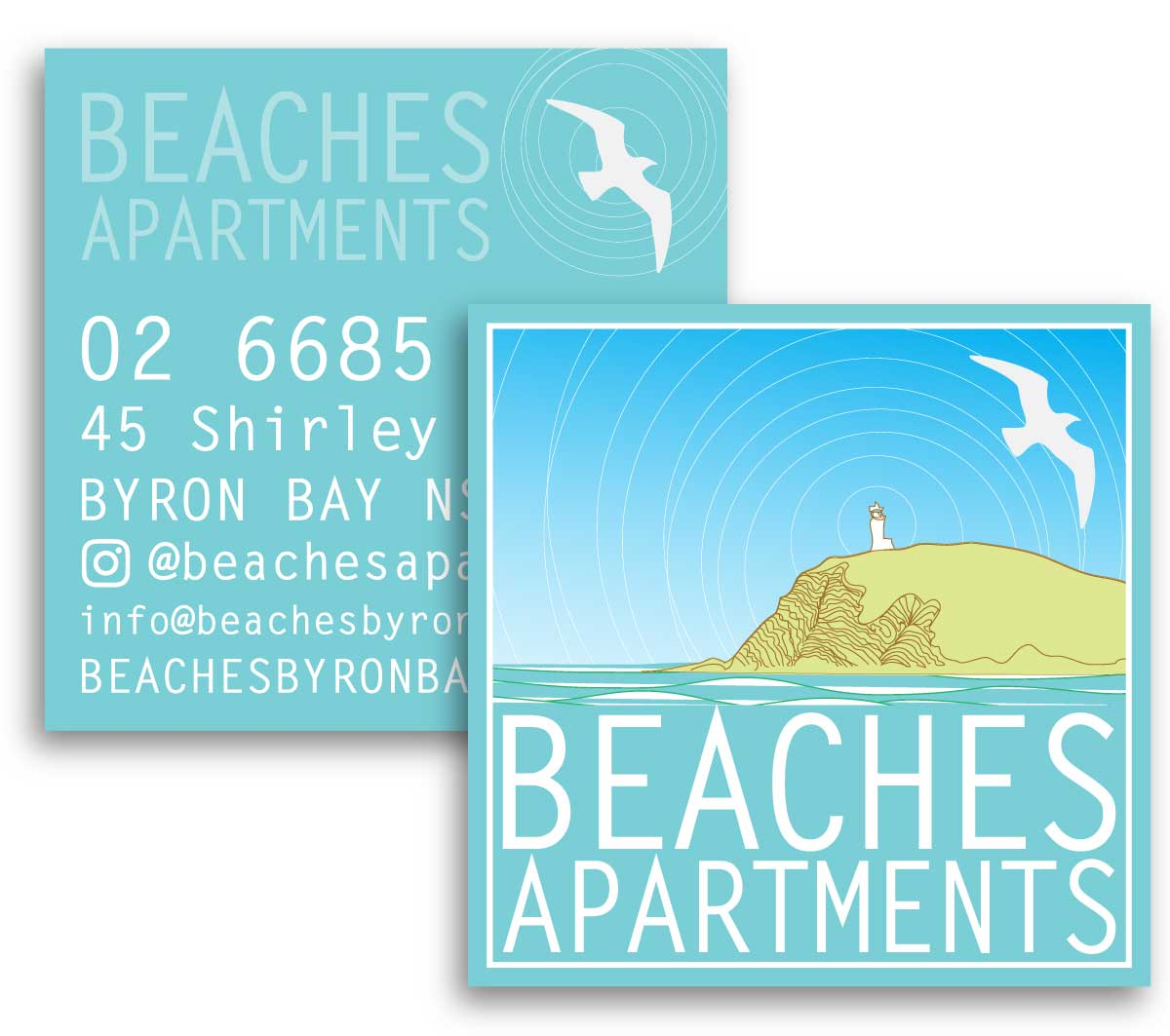 Beaches | business cards designed by accurate expressions