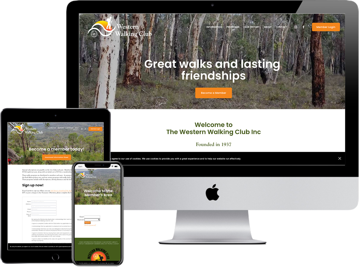 Western Walking Club | website by accurate expressions