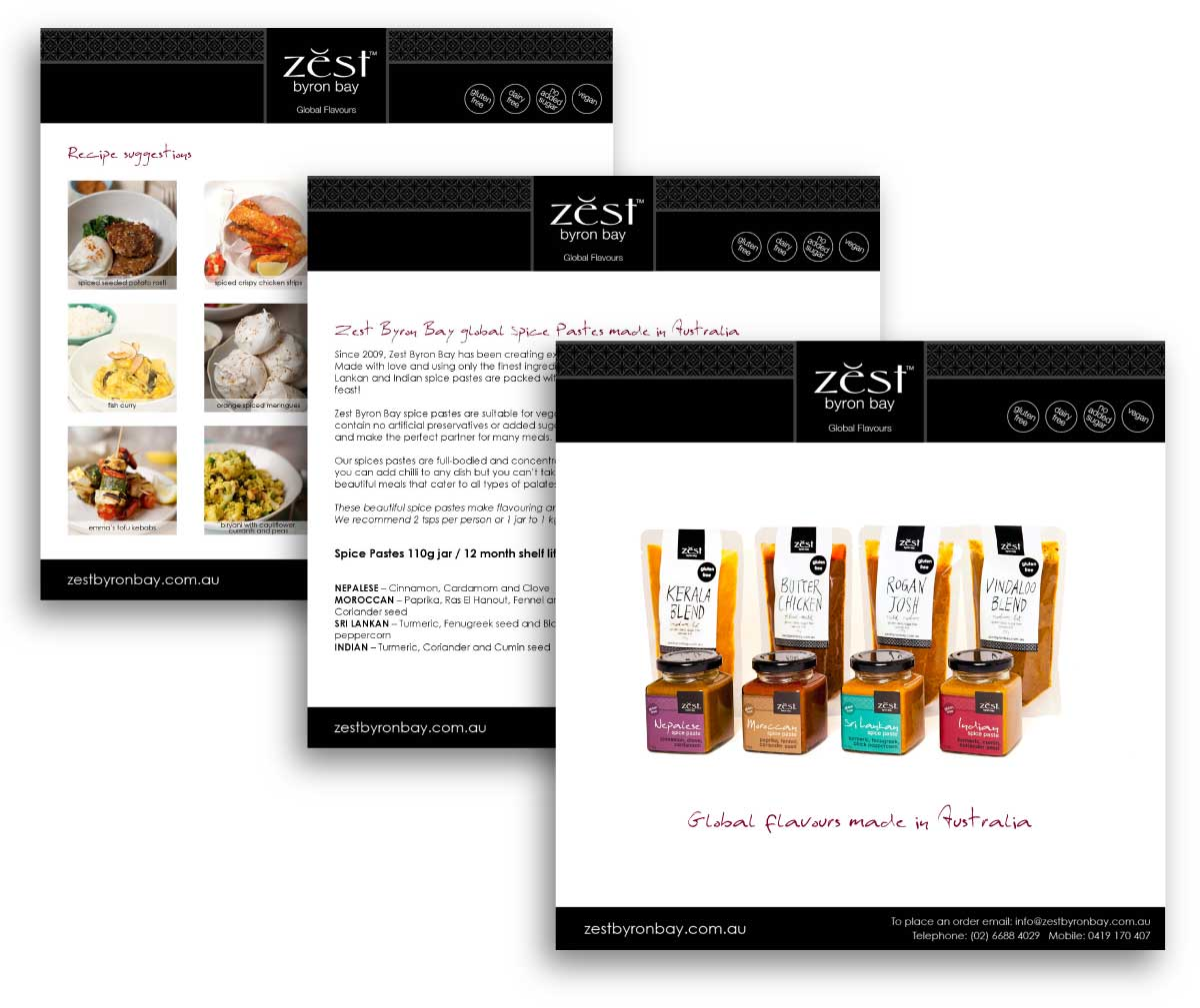 Zest Byron Bay | media kit designed by accurate expressions