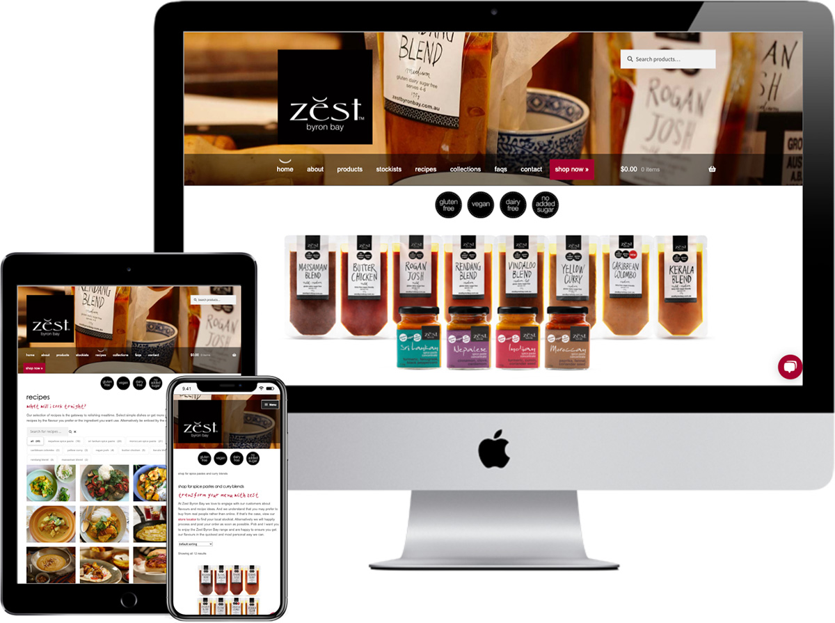 Zest Byron Bay | website designed by accurate expressions
