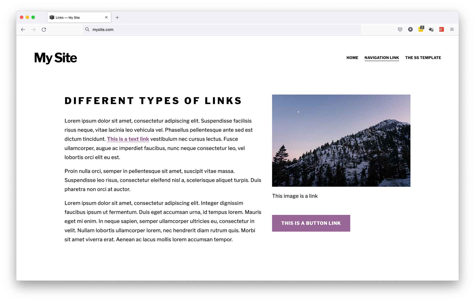 Different Types of Links - accurate expressions